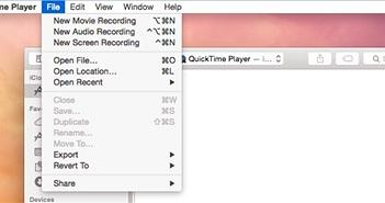 Mẹo ghi lại màn hình iPhone trên Macbook OS X