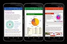 Microsoft chính thức ra mắt Word, Excel, PowerPoint cho điện thoại Android, chưa cho Việt Nam tải