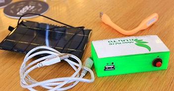 Sạc điện thoại bằng năng lượng mặt trời kể cả ban đêm