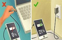 10 sai lầm khi sạc pin khiến điện thoại nhanh hỏng