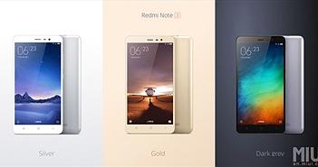 """Xiaomi Redmi Note 3: cảm biến vân tay, 5.5"""" Full-HD, pin 4K, sạc nhanh, giá 141$; Mi Pad 2 giá 156$"""