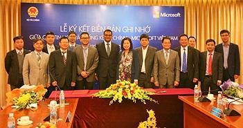 Bộ Tài chính và Microsoft Việt Nam ký kết Chương trình hợp tác CNTT