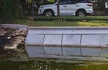 Ảnh: Cận cảnh khối bê tông đúc sẵn thí điểm cho bờ kè hồ Gươm