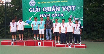 Bộ TT&TT tổ chức giải quần vợt 2014