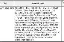 Zenfone mới lộ cấu hình trước thềm CES 2015