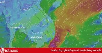 Dân mạng quan sát trực tiếp bão số 16 Tembin ở đâu?