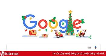"""""""Theo chân ông già Noel đi khắp thế giới"""" trên trang chủ Google"""