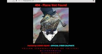 Trang web hãng Malaysia Airlines bị tấn công