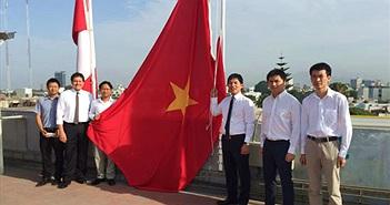 Viettel làm lễ kéo cờ Tổ quốc tại Peru
