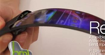Smartphone màn hình dẻo sắp thành hiện thực?