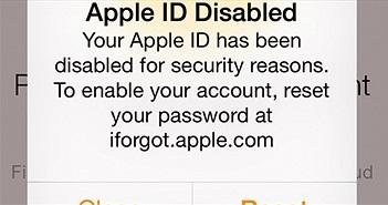 Khắc phục lỗi Apple ID bị khóa trên iPhone hoặc iPad