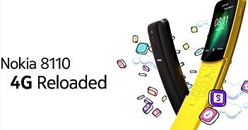 Feature phone hỗ trợ 4G LTE Nokia 8110 chính thức ra mắt