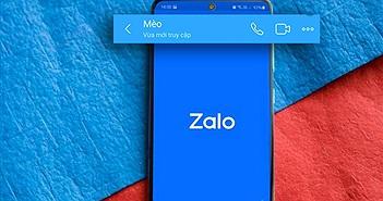 Mẹo tắt trạng thái vừa mới truy cập trên Zalo cực đơn giản
