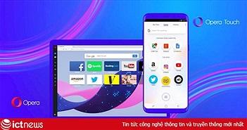 """Opera Touch: Trình duyệt giúp bạn lướt web bằng một tay trên """"dế yêu"""""""