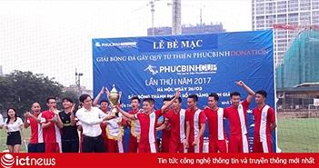 Giải bóng đá từ thiện PhucBinh Cup gây được quỹ gần 300 triệu đồng