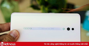 Mở hộp Oppo Reno màu trắng ngọc trai, giá bán 12,99 triệu đồng