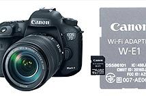 Canon giới thiệu adapter wifi W-E1 mang hình dáng thẻ SD và bộ kit EOS 7D mark II mới