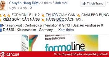 Thuốc chữa bệnh, thực phẩm chức năng trôi nổi bán tràn lan trên Facebook