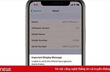 iPhone 11, 11 Pro cảnh báo nếu dùng màn hình không chính hãng