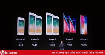 iPhone X giá 999 USD mở đường cho một thị trường điện thoại thông minh đắt hơn