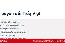 Công cụ chuyển đổi nhanh tiếng Việt thành Tiếq Việt