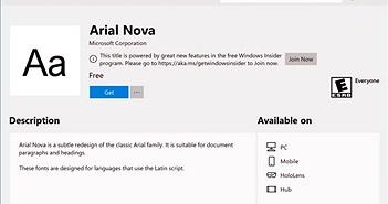 Microsoft sắp cho người dùng tải font chữ cho Winndows ngay từ kho ứng dụng Store