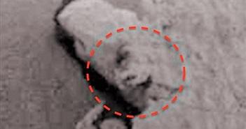 Tìm thấy khuôn mặt kỳ quái trên mũi đá sao Hỏa