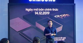 Samsung Galaxy Fold màn hình gập chính thức ra mắt người dùng Việt giá 50 triệu