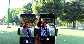 Kết quả đọ xoá phông giấu mặt camera trước và sau của iPhone X và Galaxy Note8