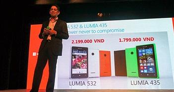 Windows Phone rẻ nhất thế giới Lumia 435 về Việt Nam giá 1,8 triệu đồng