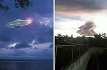 Phát hoảng UFO khổng lồ lơ lửng trên bầu trời Mexico