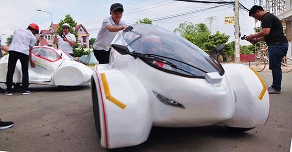 Sinh viên chế tạo xe 4 bánh chạy 200km với một lít xăng