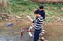 Học trò vùng cao phát minh máy đưa nước lên cao không cần điện