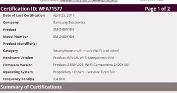 Samsung Z4 chạy giao diện Tizen đã được cấp chứng chỉ Wifi