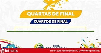 Lịch trực tiếp Copa America 2019 từ vòng tứ kết trở đi