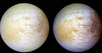 Bất ngờ hợp chất vừa phát hiện trên Europa, sao Mộc