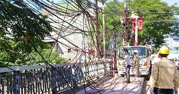 """Nửa cuối năm 2015, Hà Nội dọn """"mạng nhện"""" cáp trên 115 tuyến phố"""