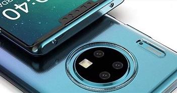 Mate 30 Pro lộ diện màn hình tai thỏ, 4 camera tròn
