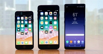 iPhone 8 Plus đọ độ bền Galaxy Note 8 trong bài kiểm tra thả rơi