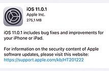 Apple bất ngờ tung ra bản cập nhật iOS 11.0.1