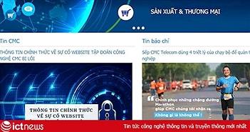 CMC khẳng định website tập đoàn không bị hacker tấn công sáng 26/9