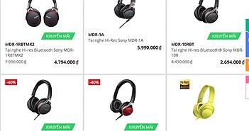 Sony giảm giá hàng loạt tai nghe Hi-res