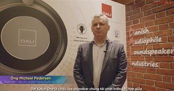 Đại diện DALI chia sẻ về soundbar Katch One và hai tai nghe chống ồn iO4 & iO6