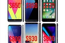 2017 là năm giá smartphone trung bình cao kỷ lục, công lớn thuộc về iPhone X và Note8