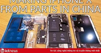 Anh chàng YouTuber tự chế một chiếc iPhone X quốc tế từ linh kiện Trung Quốc mua ngoài chợ, chi phí chỉ 500 USD