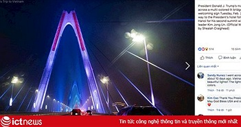 Cầu Nhật Tân xuất hiện trên fanpage của Nhà Trắng sau khi Tổng thống Trump tới Việt Nam