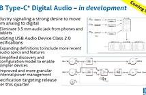 Intel thúc đẩy việc chuẩn hóa đường âm thanh qua USB-C