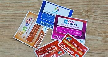 Nhà mạng dừng thanh toán trực tuyến thẻ cào sau vụ đánh bạc nghìn tỷ