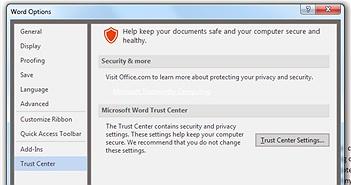 Mẹo tắt chế độ Protected View của MS Word khi tải tài liệu từ Internet