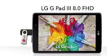 LG G Pad III 8.0: Full-HD, Android 6.0, giá 185 USD